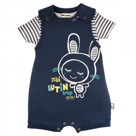 Barboteuse + t-shirt bébé garçon bleu Smallcity