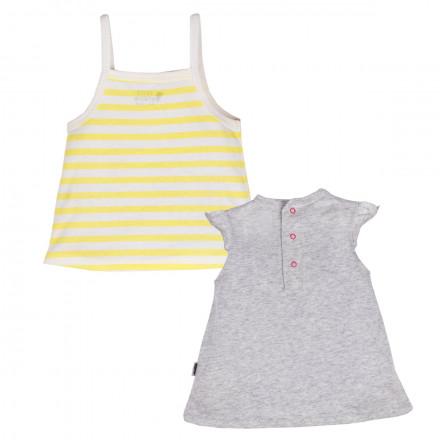 Top + t-shirt bébé fille Jolie