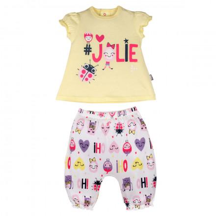 Ensemble t-shirt et sarouel bébé fille Jolie