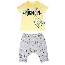 Ensemble t-shirt et sarouel bébé garçon Mignon