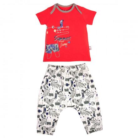 Ensemble t-shirt et sarouel bébé garçon Croco Time