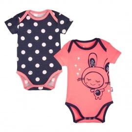 Lot de 2 bodies bébé fille manches courtes Minilutin