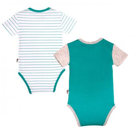 Lot de 2 bodies manches courtes bébé garçon Hipoposurf
