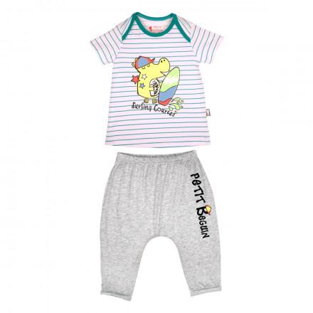 Ensemble t-shirt et sarouel bébé garçon Hipoposurf