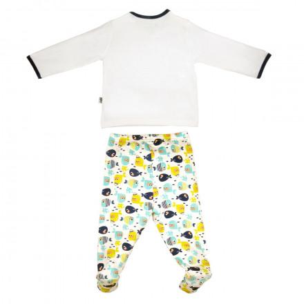 Ensemble gilet croisé et pantalon bébé garçon Petit Poisson