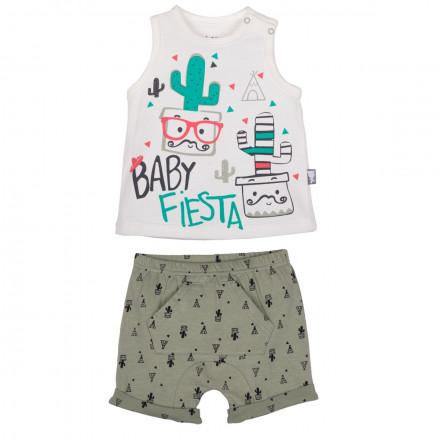 Ensemble t-shirt et short bébé garçon Mister Cactus