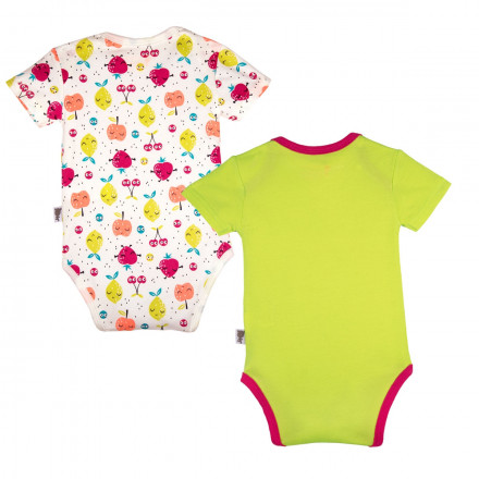 Lot de 2 bodies manches courtes bébé fille Fruity