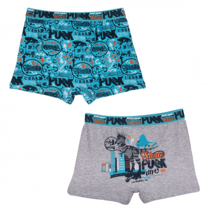 Lot de 2 boxers garçon City Punk
