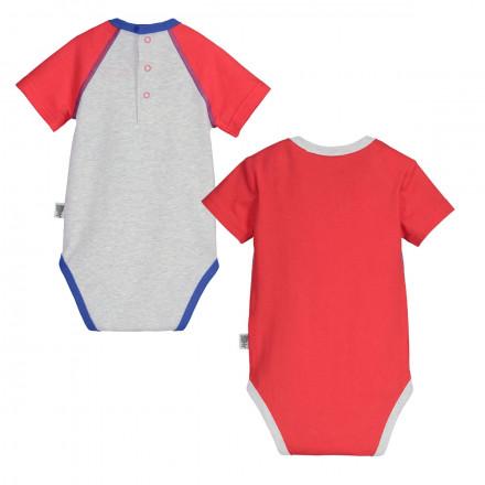 Lot de 2 bodies manches courtes bébé garçon Kahoni
