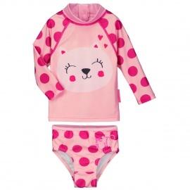 Maillot de bain ANTI-UV 2 pièces t-shirt & slip bébé fille Chipette