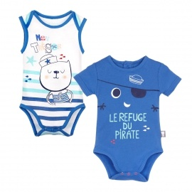 Lot de 2 bodies bébé garçon Bluefish
