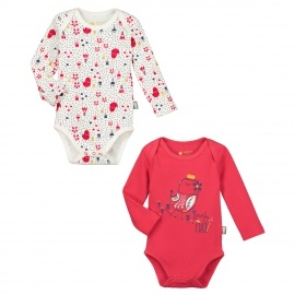 Lot de 2 bodies manches longues bébé fille Lovely Day