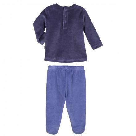Ensemble velours bébé garçon T-shirt + pantalon Petit Prince