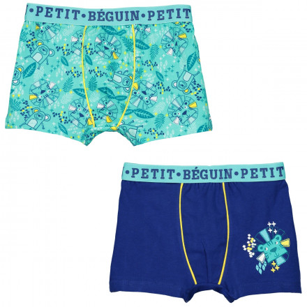 Lot de 2 boxers garçon Jungle