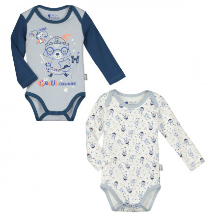 Lot de 2 bodies manches longues bébé garçon Magic Dragon