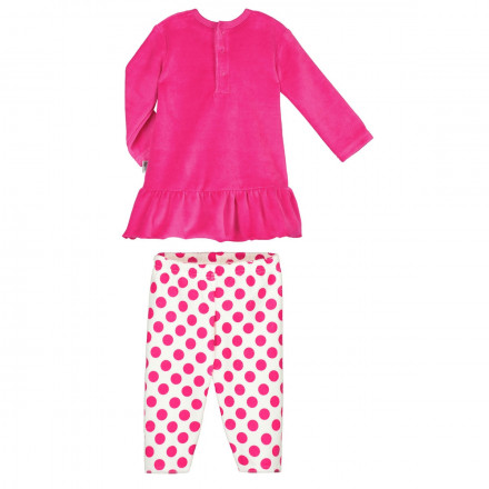 Ensemble velours bébé fille robe + pantalon Me and You