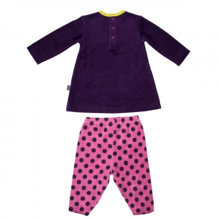 Pyjama velours bébé fille Hip Hip