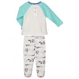 Pyjama bébé garçon Pandalapin avec pieds