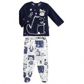 Pyjama bébé garçon Cosmodino avec pieds