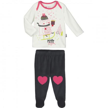 Pyjama bébé fille Lovesnow avec pieds