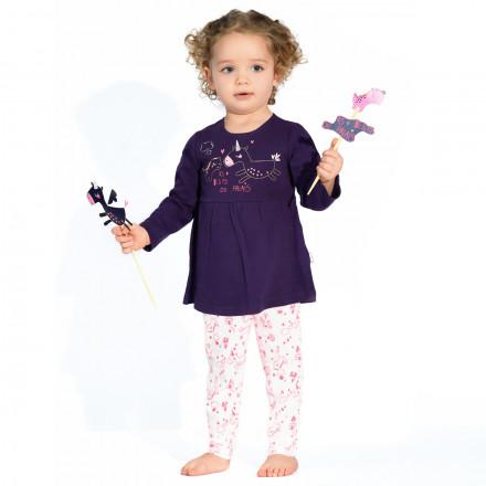 Ensemble body tunique + legging bébé fille Lili