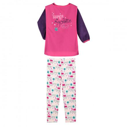 Pyjama fille manches longues Super Rigolotte + cape amovible